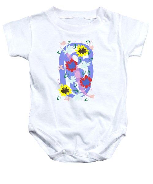 Abstract Garden #1 Baby Onesie