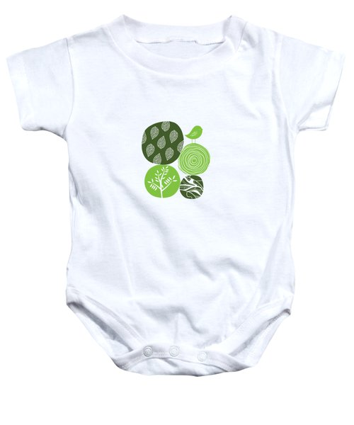 Abstract Nature Green Baby Onesie