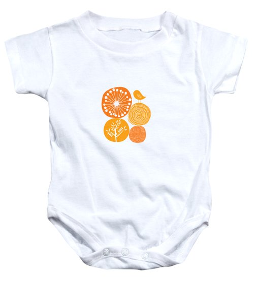 Abstract Nature Orange Baby Onesie