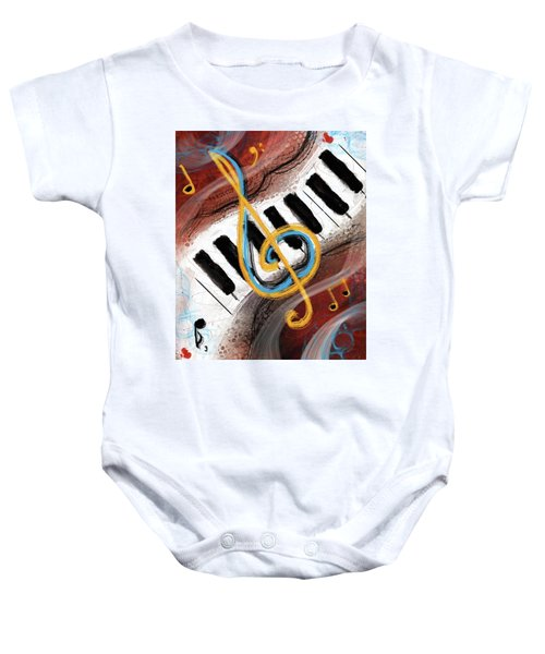 Abstract Piano Concert Baby Onesie