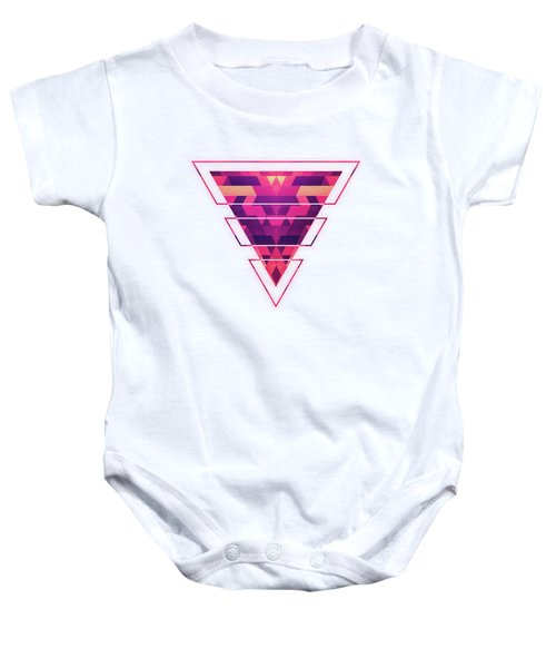 Abstract Symertric Geometric Triangle Texture Pattern Design In Diabolic Magnet Future Red Baby Onesie