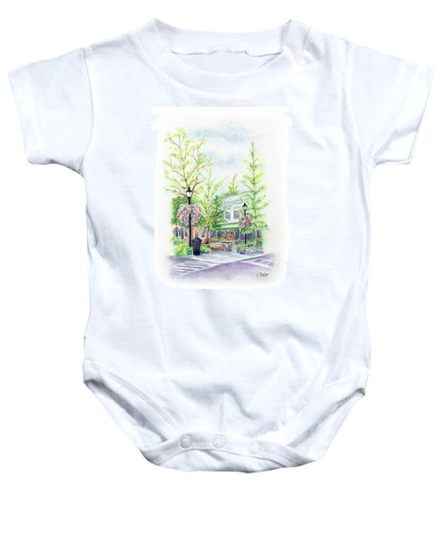 Across The Plaza Baby Onesie
