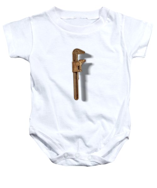 Adjustable Wrench Back On Color Paper Baby Onesie