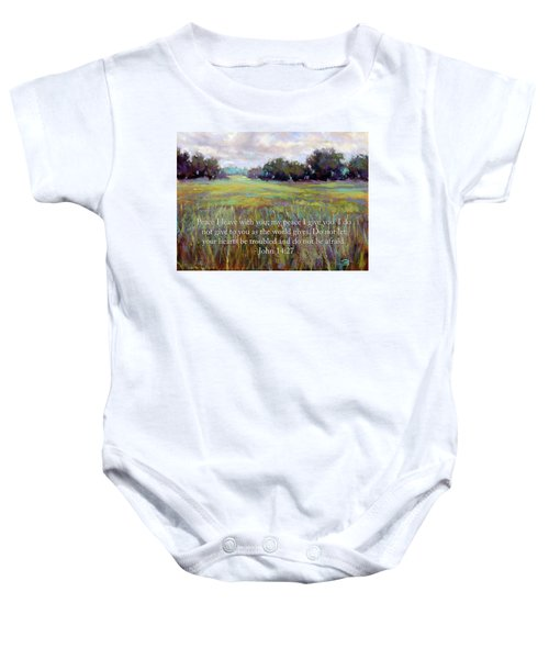 Afternoon Serenity With Bible Verse Baby Onesie