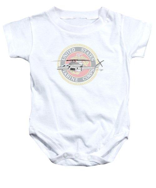 Ah-1z Viper Usmc Baby Onesie