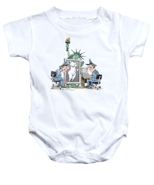 Airport Security And Liberty Baby Onesie