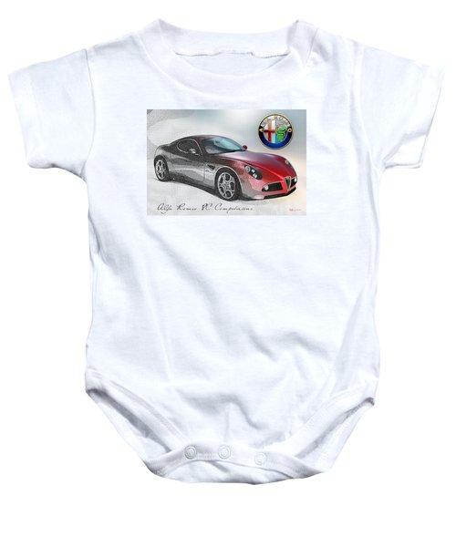 Alfa Romeo 8c Competizione  Baby Onesie