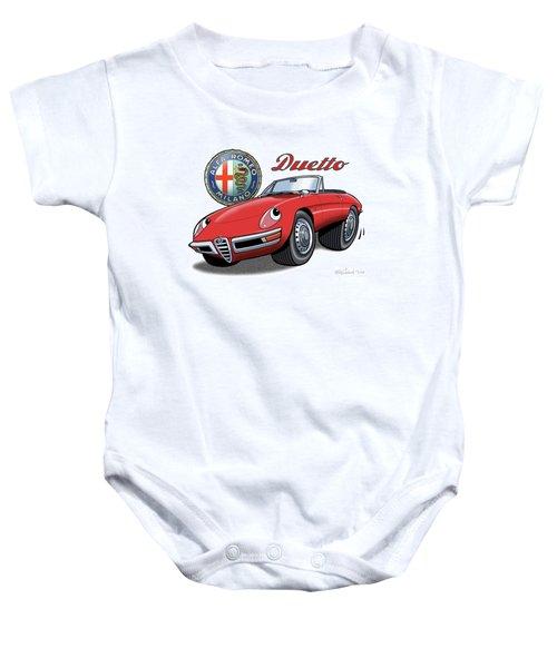 Alfa Romeo Duetto Cartoon Baby Onesie