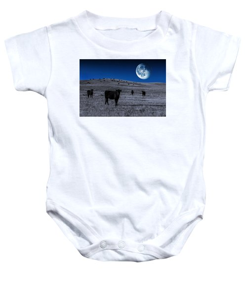 Alien Cows Baby Onesie