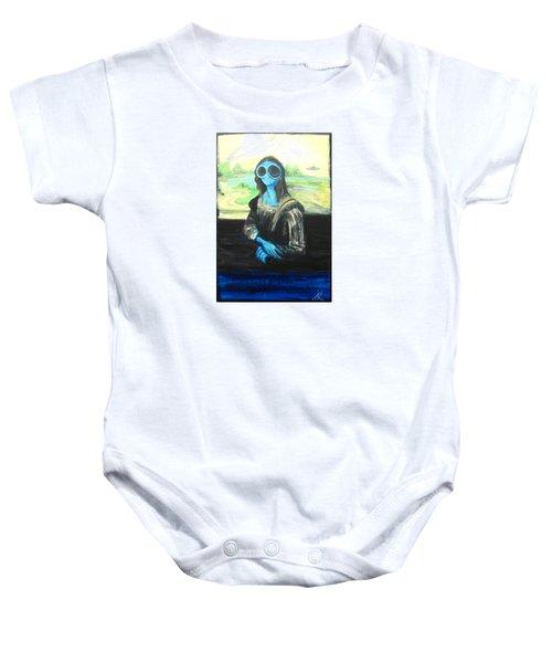 alien Mona Lisa Baby Onesie