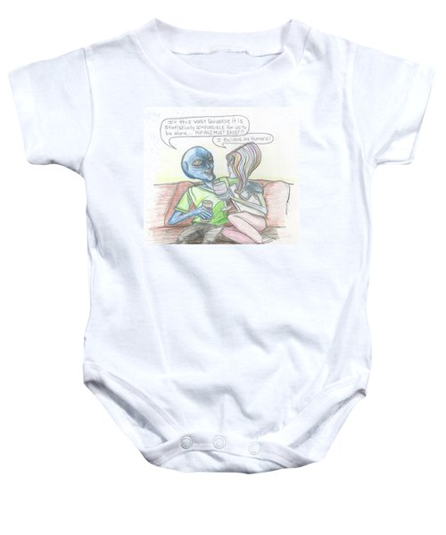 Alien's Rationally Discuss The Existence Of Humans Baby Onesie