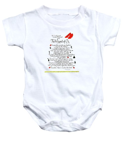 All I Need To Know I Learned From The Wizard Of Oz Baby Onesie
