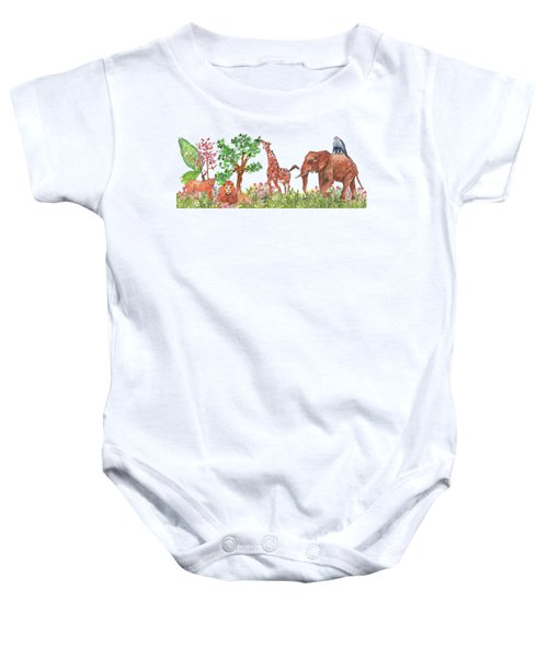 All Is Well In The Jungle Baby Onesie