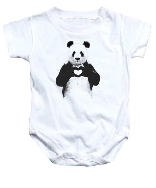 All You Need Is Love Baby Onesie by Balazs Solti