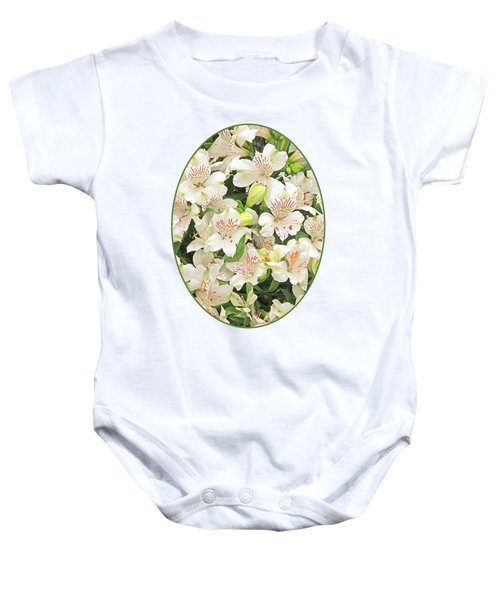 Alluring Alstroemeria - Peruvian Lilies Baby Onesie
