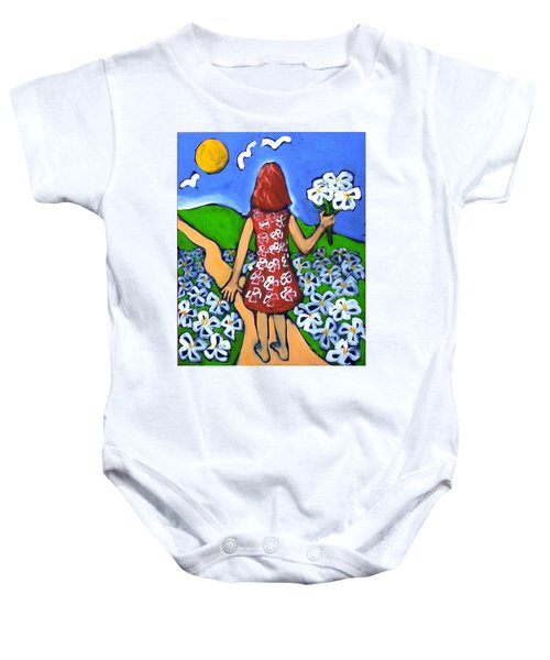 Baby Onesie featuring the painting Along The New Path by Winsome Gunning
