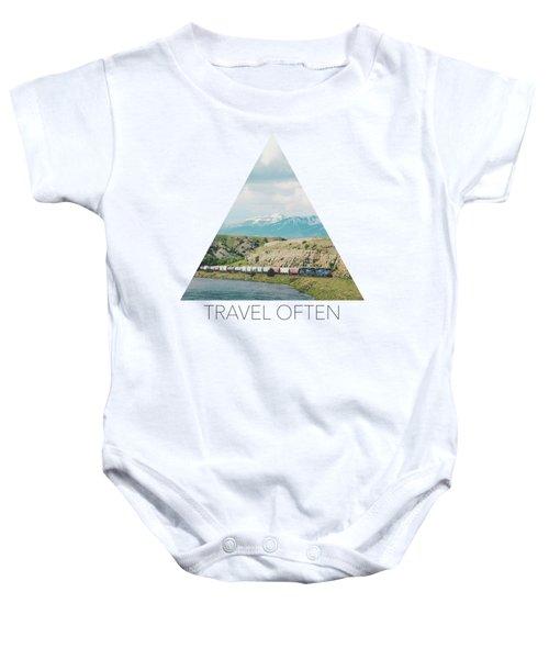 Along The Yellowstone Baby Onesie