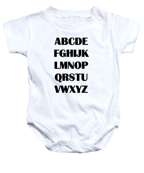 Alphabet T-shirt Baby Onesie