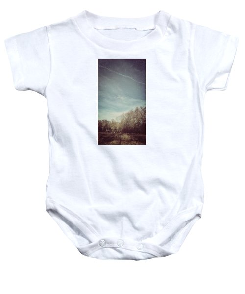 Am Himmel Die Wolken  #wolken #himmel Baby Onesie
