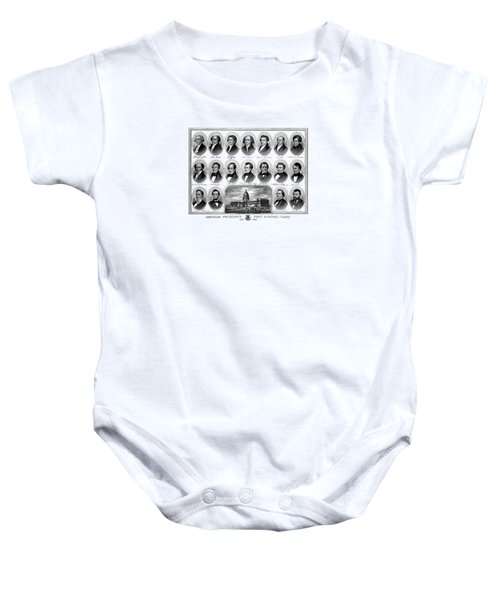 American Presidents First Hundred Years Baby Onesie by War Is Hell Store