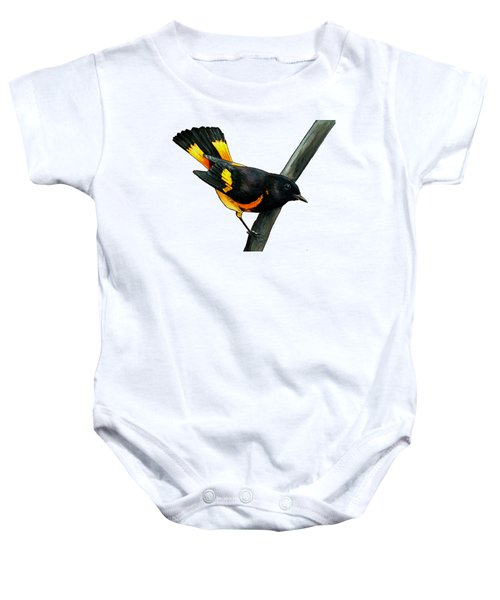 American Redstart Baby Onesie