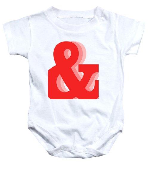 Ampersand - Red - And Symbol - Minimalist Print Baby Onesie