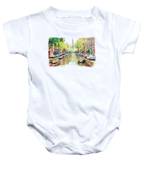 Amsterdam Canal 2 Baby Onesie
