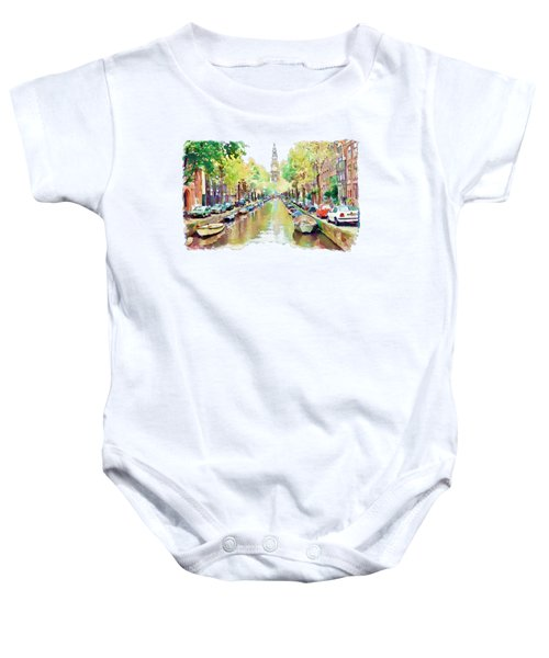 Amsterdam Canal 2 Baby Onesie