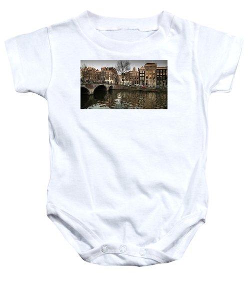 Amsterdam Canal Bridge Baby Onesie
