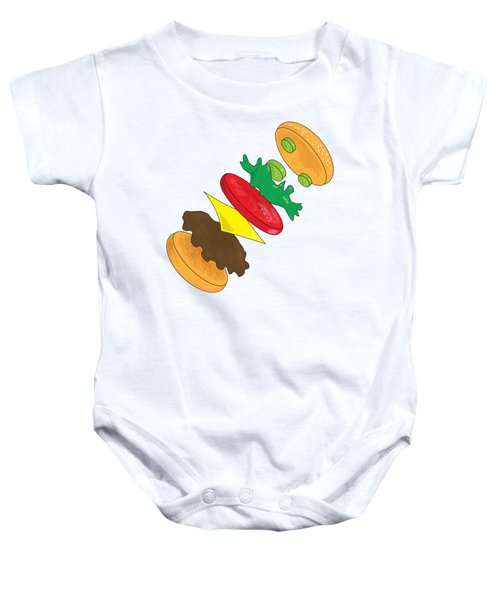 Anatomy Of Cheeseburger Baby Onesie