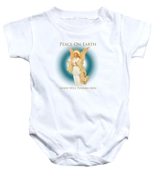 Angel On Blue Baby Onesie