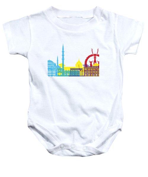 Ankara Skyline Pop Baby Onesie