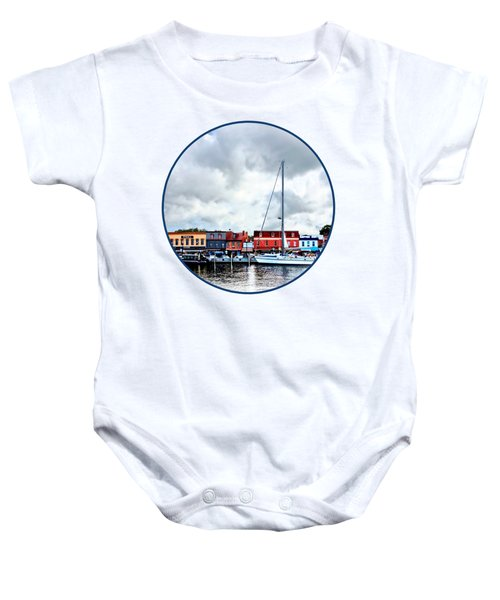 Annapolis Md - City Dock Baby Onesie