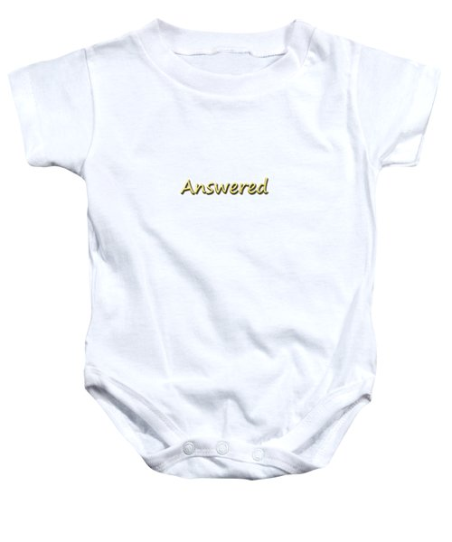 Answered Baby Onesie