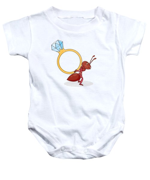 Ant With Big Ring Baby Onesie