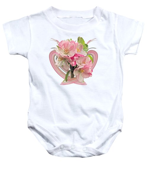 Apple Blossom Abstract Baby Onesie