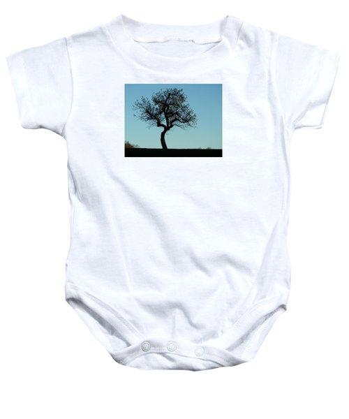 Apple Tree In November Baby Onesie