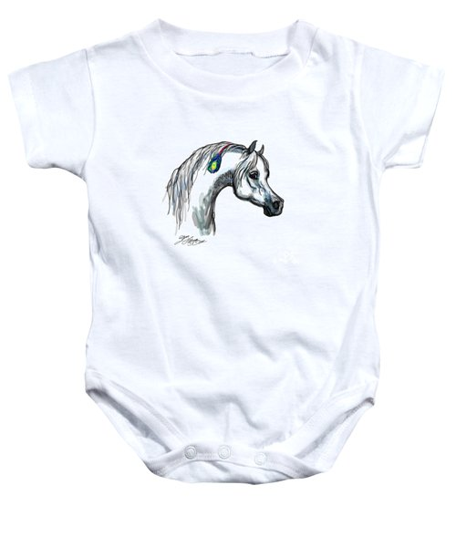 Arabian Peacock Feather Baby Onesie