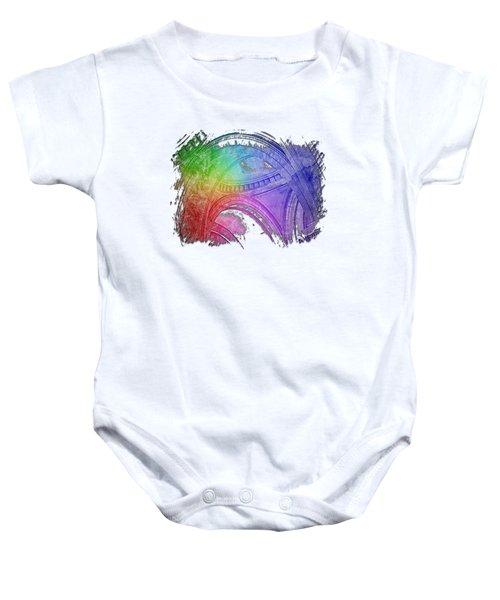 Arches Abound Cool Rainbow 3 Dimensional Baby Onesie