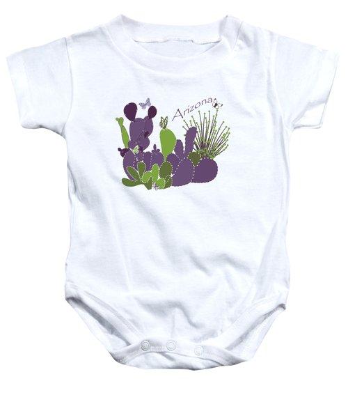 Arizona Cacti Baby Onesie by Methune Hively