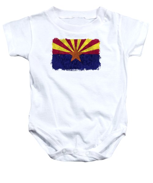 Arizona Flag Baby Onesie by World Art Prints And Designs