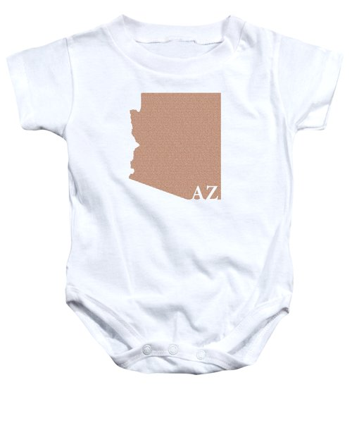 Arizona State Map With Text Of Constitution Baby Onesie