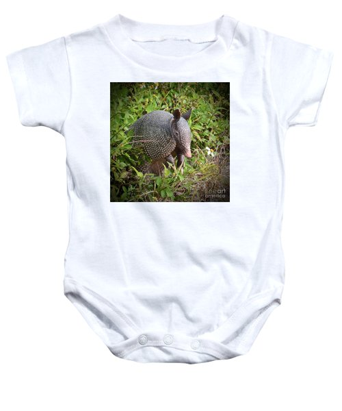 Armadillo And Flower Baby Onesie