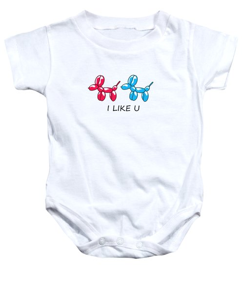 I Like You 2 Baby Onesie by Mark Ashkenazi