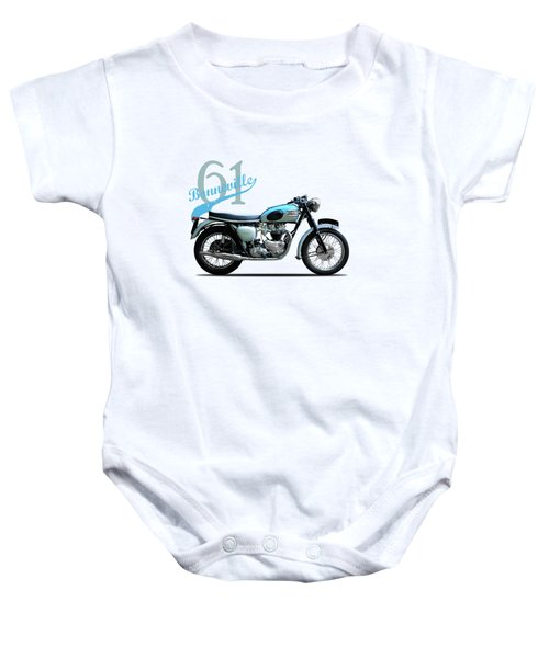 Triumph Bonneville Baby Onesie by Mark Rogan