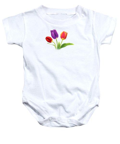 Tulip Trio Baby Onesie
