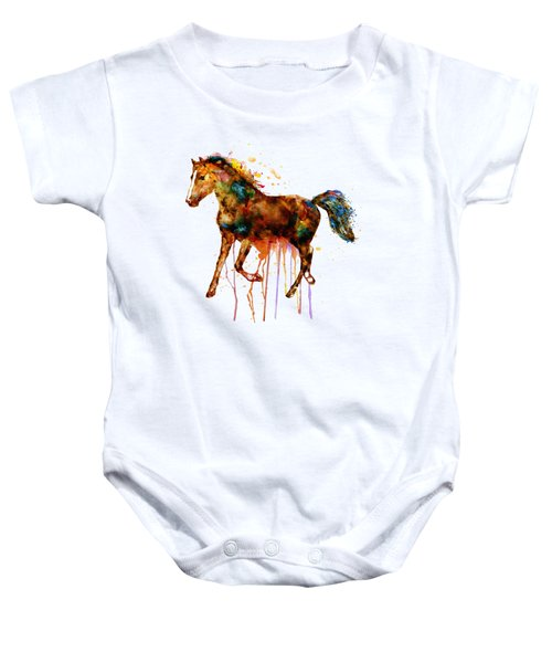Watercolor Horse Baby Onesie by Marian Voicu