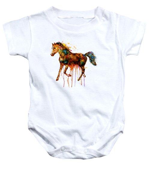 Watercolor Horse Baby Onesie