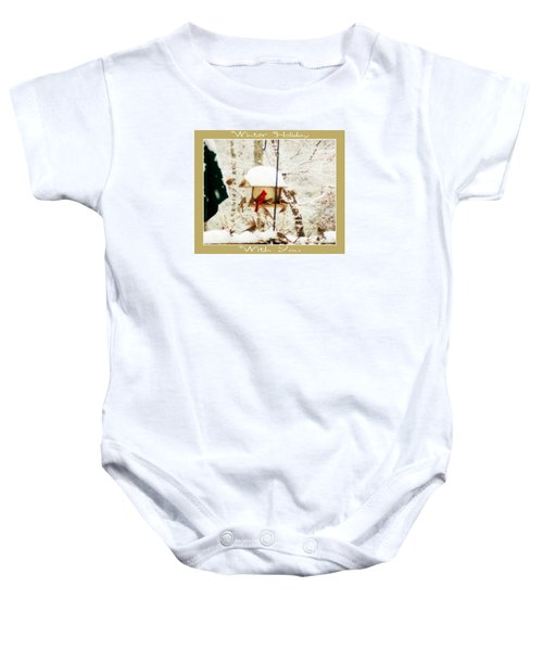 Winter Holiday Baby Onesie by Anita Faye