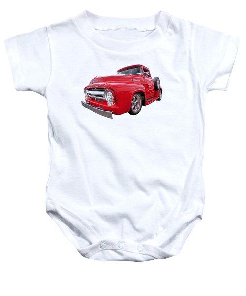 Red F-100 Baby Onesie